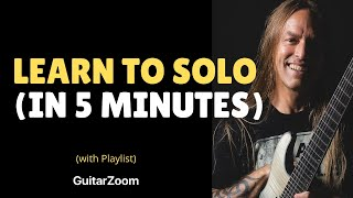 Download Steve Stine Guitar Lesson - Learn To Solo In 5 Minutes - 6 Note Soloing Technique Video