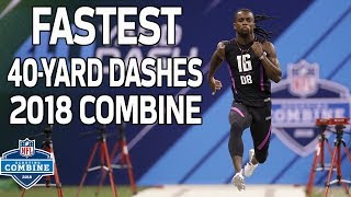 Download The Fastest 40-Yard Dash Times of 2018! | NFL Combine Highlights Video