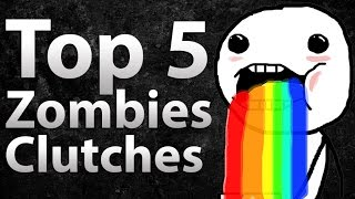Download TOP 5 Clutches in Call of Duty Zombies - ″Black Ops 2 Zombies″, Black Ops & World at War Video