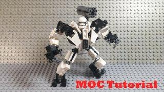 Download R-18 Stormtrooper Mech Suit Tutorial - A LEGO Star Wars MOC Tutorial Video