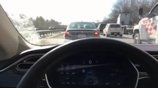 Download Tesla AutoPilot: Stop-n-Go Bumper-2-Bumper Traffic Video
