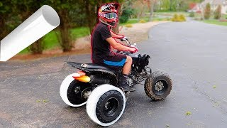 Download DRIFT QUAD PVC TIRES!!! GONE WRONG Video