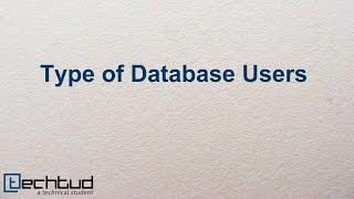 Download Database Users| Database Management System Video