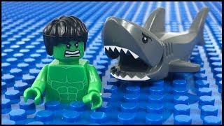 Download LEGO Hulk Shark Attack STOP MOTION LEGO Hulk Fishing Trip | LEGO Hulk | By LEGO Worlds Video