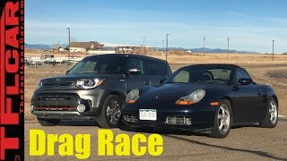 Download 2017 Kia Soul Turbo vs Budget Boxster 201 HP Drag Race- Craigslist Project Porsche Ep.6 Video