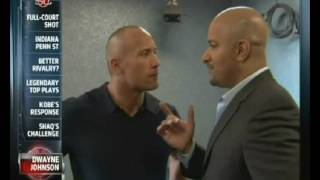 Download Dwayne ″The Rock″ Johnson and Jonathan Coachman share a moment on ESPN Video