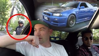 Download Pulled over Driving my friend's R34 - Nissan Skyline GTR In The USA Video