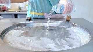 Download Water shave ice milk ice cream VS blueberry and Lichee ice cream rolls challenge Video