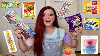 Download TEACHER TRIES HER STUDENTS FAVORITE SNACKS | TAKIS. HOT CHEETOS. LUNCHABLES &MORE Video