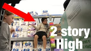 Download INSANE 2 STORY HIGH TOILET PAPER FORT! Video