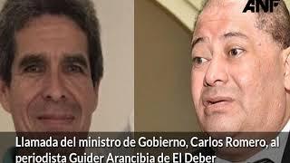 Download Audio de los supuestos amedrentamientos de Carlos Romero a un periodista de El Deber Video