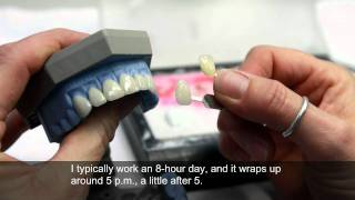 Download A day-in-the-life of a dental laboratory technician Video