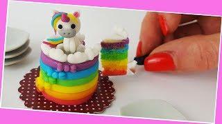Download Unicorn cake / Miniature cooking / Mini Food / Jenny's mini cooking show / 食べれるミニチュア Video