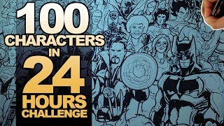 Download DRAWING 100 CHARACTERS in 24 HOURS ART CHALLENGE! Video