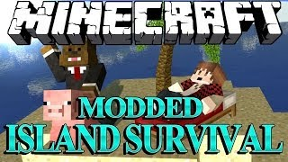 Download SHOOTING A GUN in Minecraft Modded Survival Island Let's Play w/ BajanCanadian! #2 Video