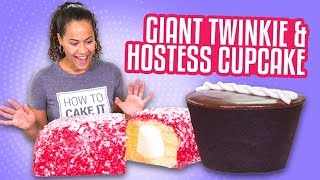 Download GIANT LUNCH BOX TREATS! Hostess Cupcake & Raspberry Twinkie | How To Cake It Video