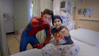 Download Tom Holland, Spider-Man: Homecoming, Visits Kids at Children's Hospital Los Angeles Video