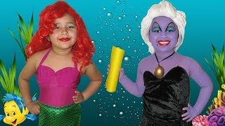 Download Disney The Little Mermaid Ariel and Ursula Makeup Halloween Costumes and Toys Video