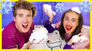 Download BATH FULL OF SNOW CHALLENGE! w/Miranda Sings Video