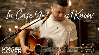 Download In Case You Didn't Know - Brett Young (Boyce Avenue acoustic cover) on Spotify & Apple Video