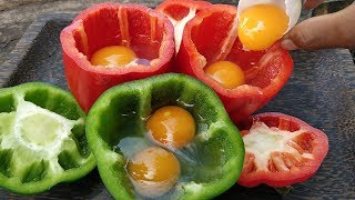 Download Bell Pepper Omelet / Cooking Duck Egg in Bell Pepper Video
