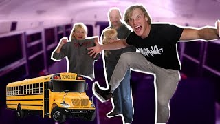 Download SCHOOL BUS 24 HR OVERNIGHT CHALLENGE! (w/ my divorced parents) Video