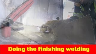 Download Finishing Welding the Trunk 57 belair build Video