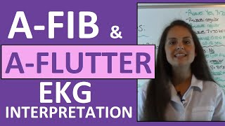 Download How to Interpret Heart Rhythms on EKG Strips | How to tell the difference between A-fib & A-flutter Video