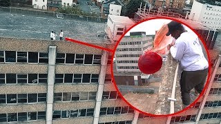 Download LAUNCHING the WORLDS BIGGEST BOUNCY BALL from a BUILDING.. Video