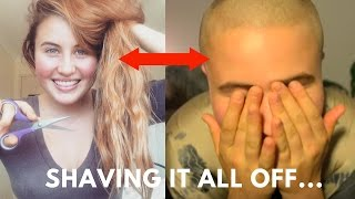 Download Girl shaves her head, One hairstyle at a time... Video