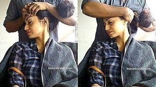 Download Head Massage for Smooth Silky waist length with Hot Oil and Hair Spa Video
