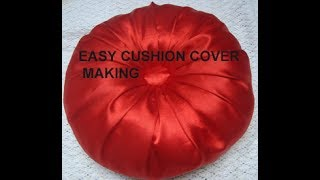 Download SUPER EASY ROUND cushion cover/pillow cover making Video