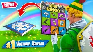 Download Rainbow BINGO Battle In Fortnite! (Challenge) Video