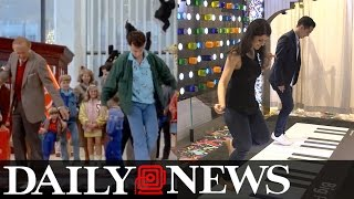 Download 'Big' Piano finds new home at Macy's Herald Square Video