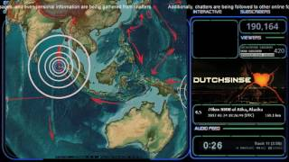 Download 2/24/2017 - Large M7.0 (M6.9) earthquake strikes West Pacific - New Zealand on watch now Video