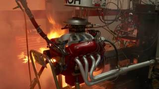 Download Fire Engulfs Mopar Small-Block at Engine Masters 2016 Video