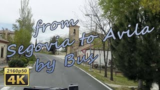 Download from Segovia to Avila by Bus - Spain 4K Travel Channel Video