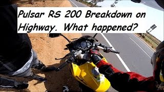 Download Pulsar RS 200 Breakdown on Highway. What happened? Video