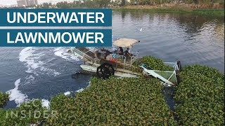 Download Underwater Lawnmowers Are Cleaning Trash Out Of Rivers Video