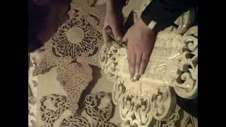 Download Art islamique .un magnifique tableau fait a la main sculpter en Bois Video