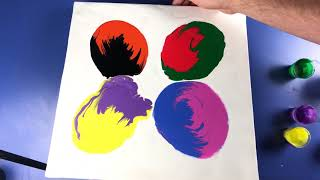 Download Acrylic Pour Painting - Abstract Swirl Of Colors Video