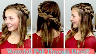 Download Waterfall Pull Through Braid!! Video