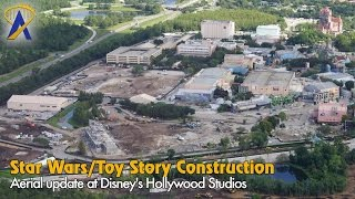 Download Aerial look at Star Wars Land & Toy Story Land construction at Disney's Hollywood Studios Video
