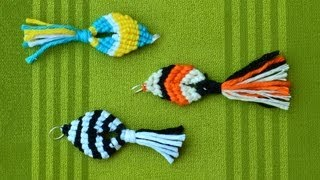 Download Easy Macrame Fish / Pesce, Pescado, Poisson, Peixe, Ikan, Fisch, Рыба, Ryba, 魚 Video