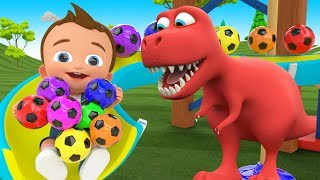 Download Little Baby Fun Play Learning Colors for Children with Soccer Balls Sliders ToySet 3D Kids Education Video