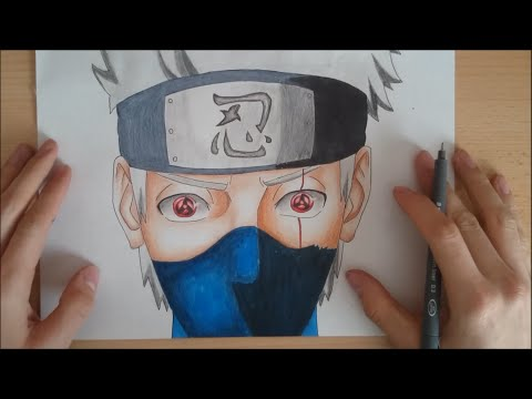 How To Draw Kakashi Both Sharingan | Wie zeichnet man Kakashi zwei Sharingan