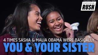 Download 4 Times Sasha & Malia Obama Were Basically You & Your Sister Video