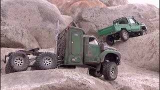 Download 6X6 vs 4X4 lets crawl Scale Town - RC CWR Video