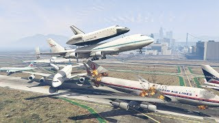 Download GTA 5 | NASA Shuttle Plane Crash Into Boeing 747 When Trying To Escape Video