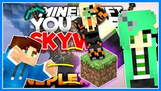 Download THROWING DIRT AT SALLY GREEN! | YouTuber Skywars Special (Mineplex) | w/ Dirt Sheep Video
